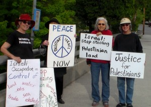 Women and Men in Black Vigil for Palestine Justice @ Broad Street overpass
