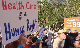 Rally to make Health Care a Right @ Secretary of State Auditorium
