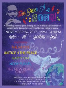 Give Peace a Song! @ Nevada City Veterans Memorial Building