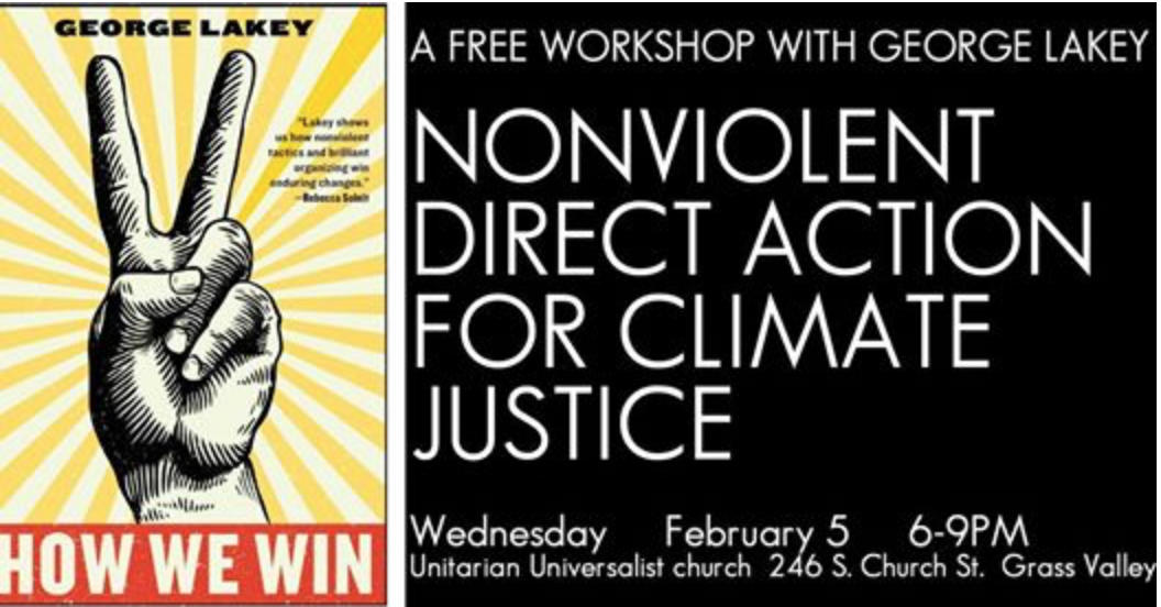 Nonviolent Direct Action for Climate Justice: Free Workshop @ Unitarian Universalist Comm